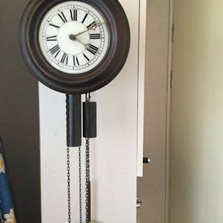 Wall clock - wood - 20th century