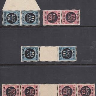 Niederlande 1924 - Postage due tête-bêches - NVPH P67a/P68b