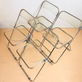 Giancarlo Piretti - Castelli - Set of 4 'Folding Chairs' - PLIA
