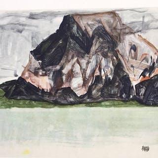 Egon Schiele (1890 - 1918) - Der Mittagskogel bei Villach - 1917