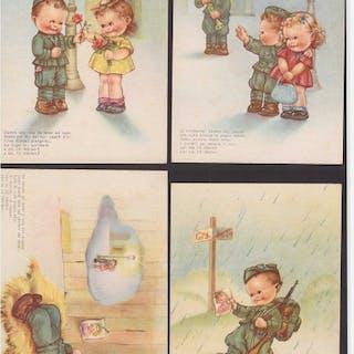 Italien - 5 Militärlebenpostkarten mit Text von Lilì Marlen - 1942
