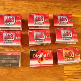 Sony HI8 tapes and Digital 8  *sealed*