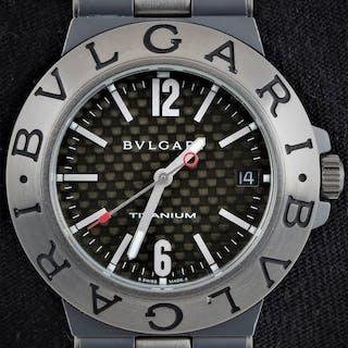 Bvlgari - Diagono Titanium 38mm - Carbon - Automatic- TI...
