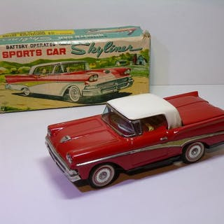 TN / NOMURA - # 1958 FORD FAIRLANE 500 'SKYLINER' with box - 1960-1969 - Japan