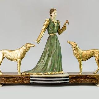Menneville- Escultura Art Deco