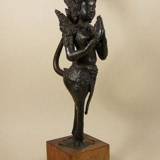 Sculpture - Bronze - A bronze sculpture of a 'kinnari'...