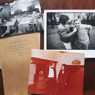 Gesigneerd; 3 foto's uit het bezit van Boudewijn Büch