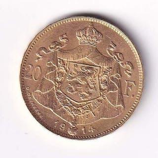 Belgium - 20 Francs 1914 Albert I - Gold