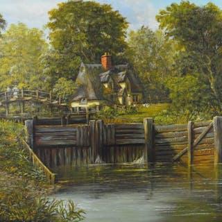 Malcolm Gearing (b. 1947) - Flatford Mill, Suffolk, England