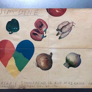 Jim Dine - Tentoonstellingsaffiche Galerie Ileana Sonnabend, Paris
