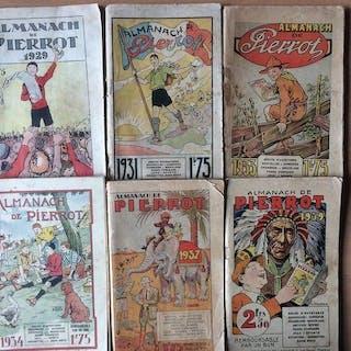 Lot de 6 Almanach de Pierrot - 1929/1939