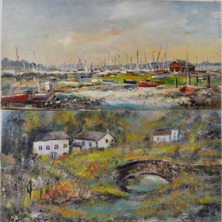 M Englefield (1912-) - A pair of impressionist landscapes