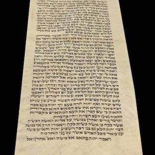 Torah Bible -Manuscript Vellum Numbers ScrollItaly- 1780