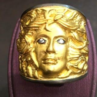 Kurtulan Designe - 24 kt. Gold, Silver - Ring Diamond