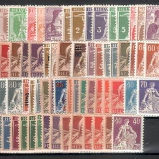Schweiz 1907/1924 - Sammlung Freimarken mit Varianten