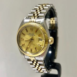 Rolex - Oyster Perpetual Lady Date. Steel & Gold. - 6916 - Women - 1980-1989