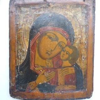 "Russian icon Our Lady ""Korsunskaya"" - Wood - 19th century, 19th century"