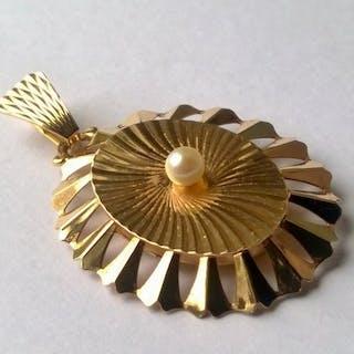18 kt. Yellow gold - Pendant, Opening mechanism