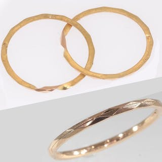 18 kt. Pink gold - Intertwined wedding ring with hidden...