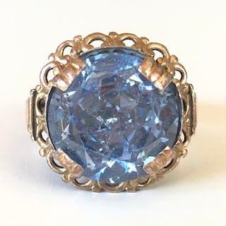 925 Roségold, Silber - Ring - 12.00 ct Saphir Verneuil
