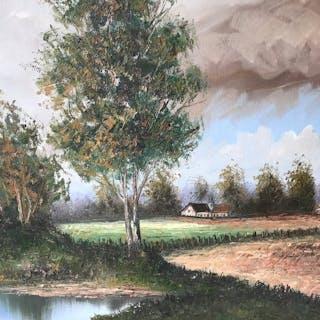 Heinrich Knauf  ( 1901-1976 ) - Hollands Landschap