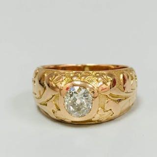 18 kt. Rose Gold - Ring - 0.80 ct Diamond