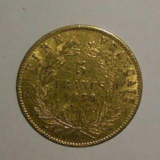 France - 5 Francs 1859-A Napoléon III - Gold