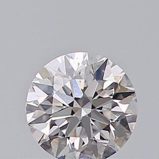 1 pcs Diamond - 0.31 ct - Round - faint pink - SI1