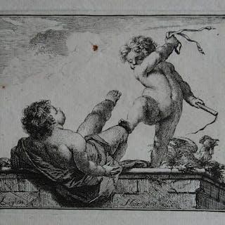 Jacob Houbraken (1698-1780) - Luijheit Naerstigheit
