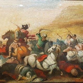 Scuola romana del XIX secolo- Battaglia