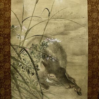 Hanging scroll - Paper
