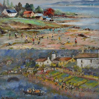M Englefield (1912-) - A pair of impressionist landscapes...