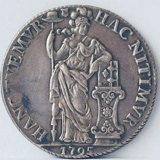 Niederlande - Utrecht - 3 Gulden 1795 Bataafse Republiek - Silber