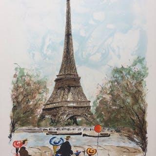 UrbainHuchet- Les monuments de Paris - La Tour Eiffel en 1900