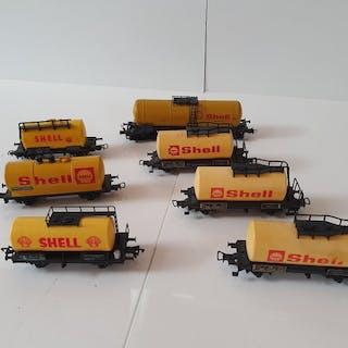 Fleischmann, Piko, Roco H0 - Güterwagen - Diverse Shell Kesselwagen 7x - DB