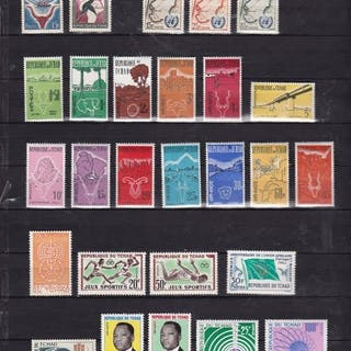 Afrika 1949/1981 - Morocco - Chad - Togo - Group of stamps and sets