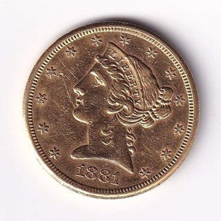 United States - 5 Dollars 1881-S Liberty Head - Gold