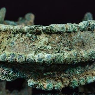 Mittelalterliche Wikinger Bronze Drache Fafnir Armband