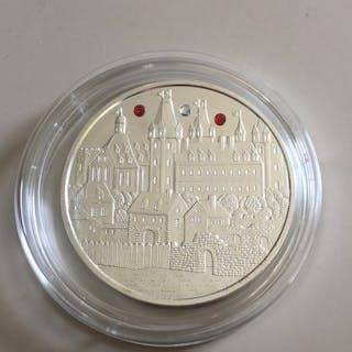 Österreich - 1,5 Euro 2019 -Wiener Neustadt mit Glassteinen - 1 Oz - Silber