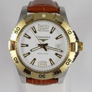 Longines - Hydro Conquest - 300 Meters - Two Tone - L3.647.3 - Herren - 2000's