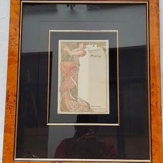 Alphonse MUCHA - F.Champenois - Paris - Menu litografico