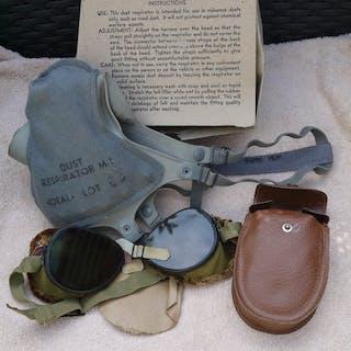 USA - US Army, Staubmaske und Staub / Sonnenbrille 1942.