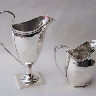 2 x VICTORIAN STERLING SILVER CREAMERS 1891 & 1899 (2) - .925 silver - U.K