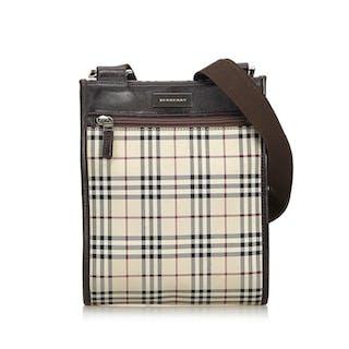 Burberry - Plaid Coated Canvas Crossbody Bag Crossbody bag