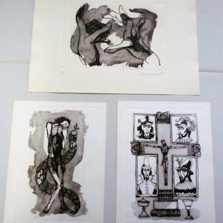Oswaldo Guayasamín - 3 grabados