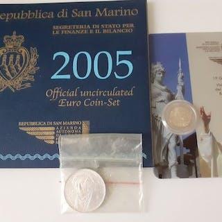 San Marino - coffret 2005 / 2011, 2 euros commémorative / 2006, 5 euros argent