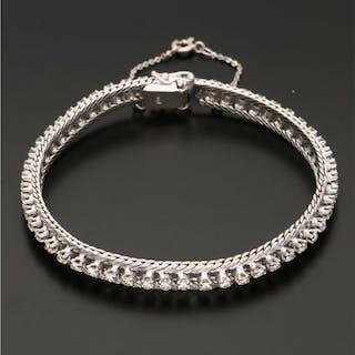 18 kt. White gold - Bracelet - 2.12 ct Diamond