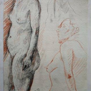 René Thomsen (1897-1976) - Dessin art-deco - Études de femme nue