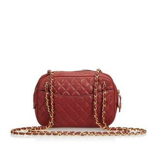 Chanel - Lambskin Leather Quilted Camera Bag Crossbody bag