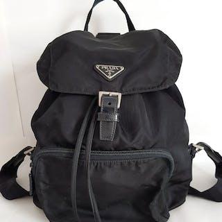 Prada - Nero Milano Leather and NylonBackpack